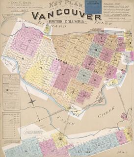 Insurance plan, Key Plan, Vancouver, British Columbia, July 1897, revised June 1903 / Plan d'assurance-incendie : plan directeur, Vancouver (Colombie-Britannique), juillet 1897, révisé en juin 1903