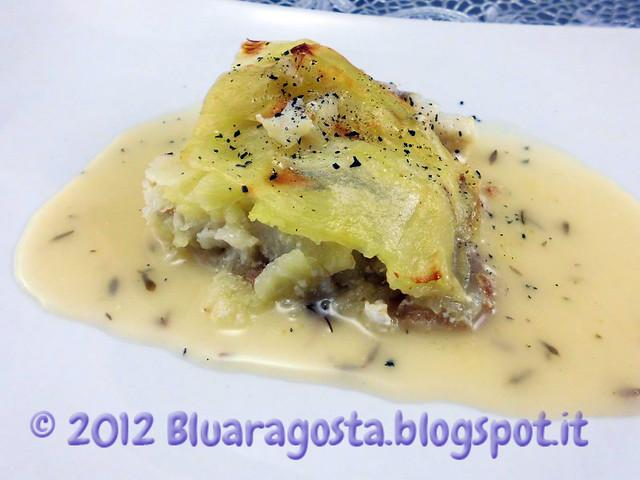 03-millefoglie di coda di rospo e patate con salsa al limone e timo