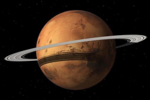 Marte y su futuro anillo