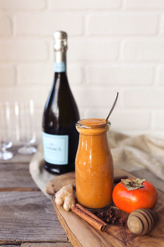 Spiced Persimmon Bellini