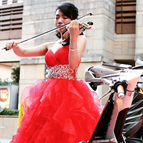 バイオリンとバイク