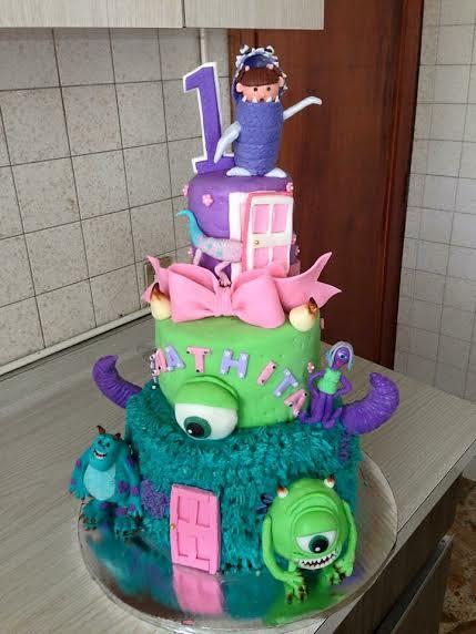 Monster Themed Cake by Susana Suasnavar Gómez of Dassu Cake Shop