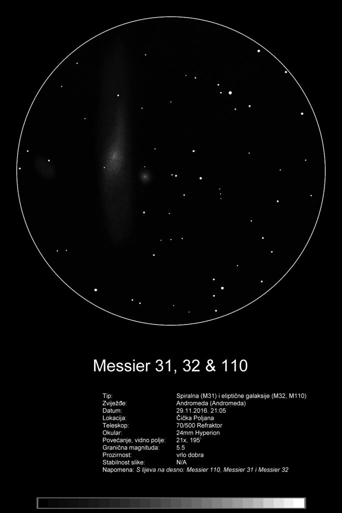 M31 70/500 refraktor