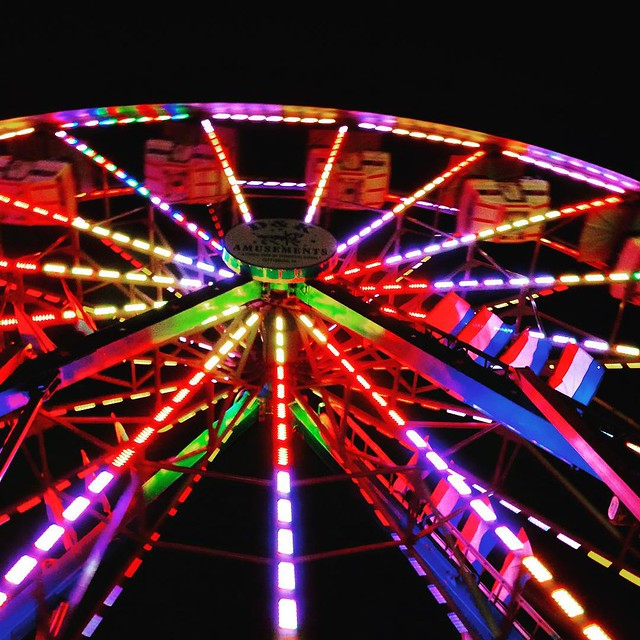 It's that carnival time of year. #carnival #firehouse #hampstead #md #ferriswheel