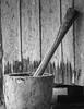 B&W Wooden Mortar & Pestle-2 Okinawa, Japan by Nikon in Japan