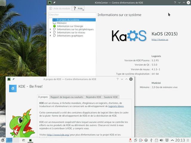 KaOS 2015.08 - Plasma 5.4rc