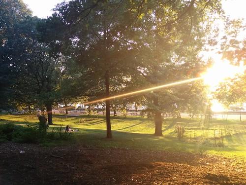 Sunset at Riverside Park Manhattan NY