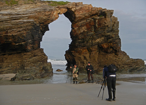 The fantastic rock formations at the Playa de las Catedrales near Ribadeo, Spain