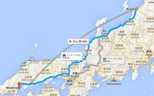 landkaartje Miyajima
