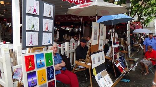 Paris Montmartre artists Aug 15 10