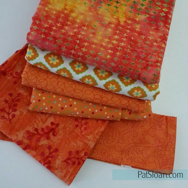 pat sloan orange fabric