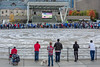 Blue Jays fans at Bird's Nest (large TV screen viewing of baseball game) - Toronto City Hall by Phil Marion