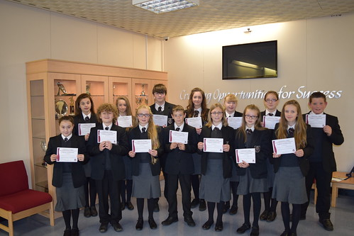 Certificates of Achievement, September 2015