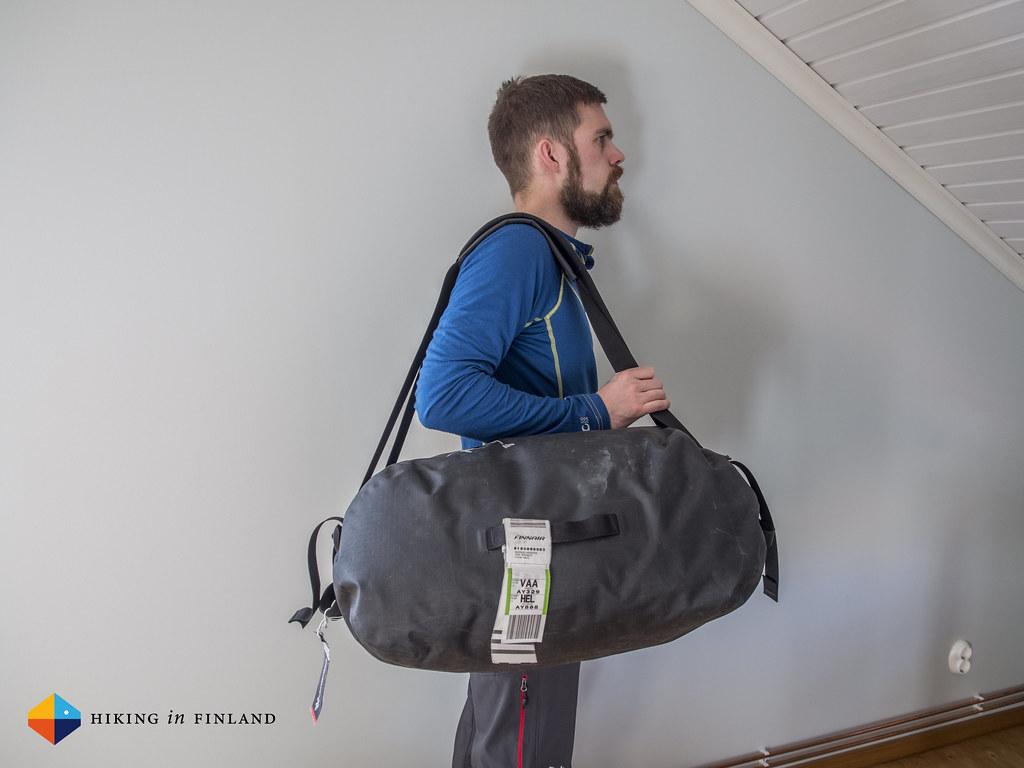 Arc'teryx Carrier Duffle 50 worn as a Shoulder bag
