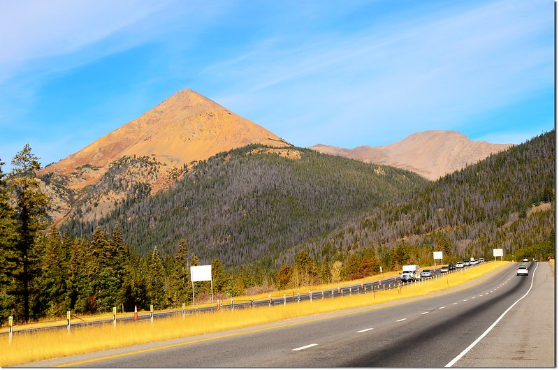 Mount Bethel(L) & Pettingell(R) as seen from I-70