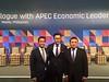 Anindya Bakrie posted a photo:Bersama Wishnu Wardhana dan Erwin Aksa di dialog pemimpin pemerintah dan bisnis 21 Ekonomi APEC di Manila
