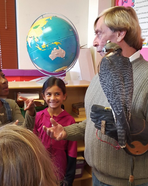 Irving 3rd Graders Celebrare World Falconry Day