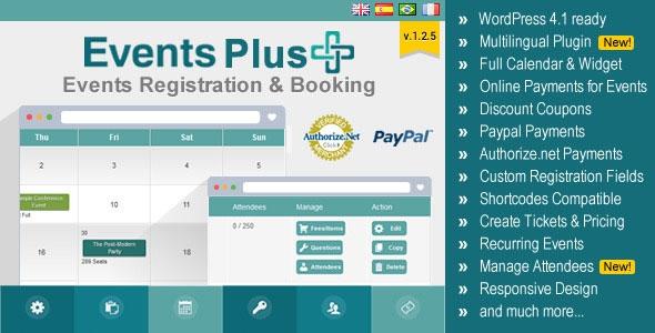 Codecanyon WordPress Events Calendar Registration & Booking v1.5.3