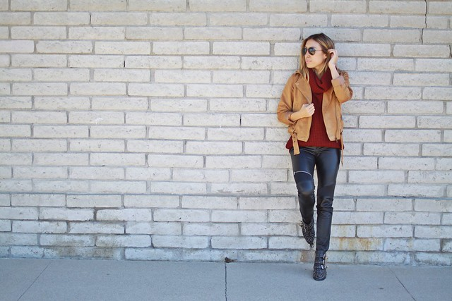 charlotte russe,zero uv,fall fashion,fall style,sweater weather,turtleneck,zara,leather pants,street style,lucky magazine contributor,fashion blogger,lovefashionlivelife,joann doan,style blogger,stylist,what i wore,my style,fashion diaries,outfit