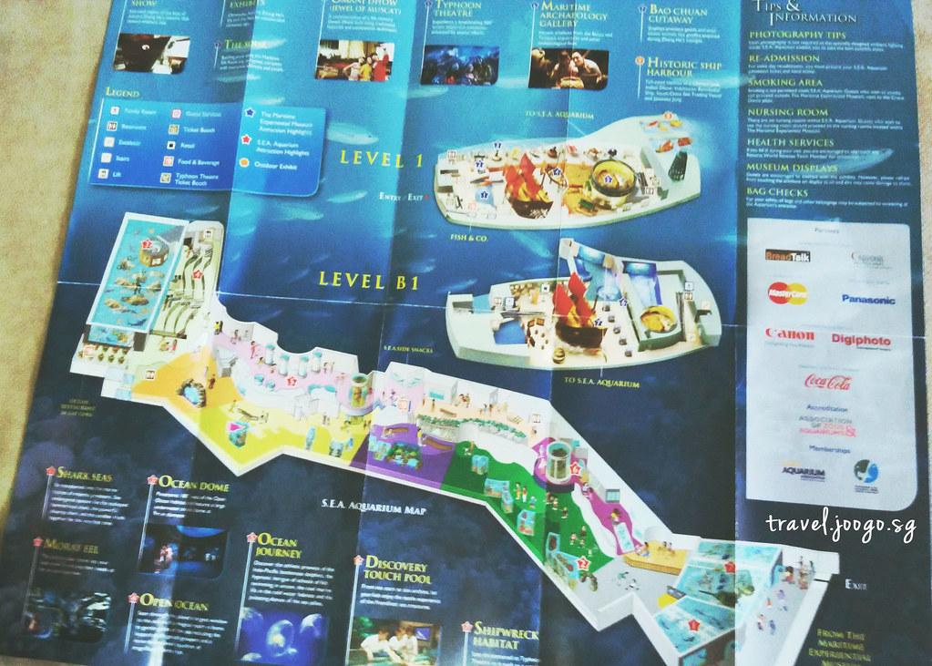 SEA Aquarium Map - travel.joogo.sg
