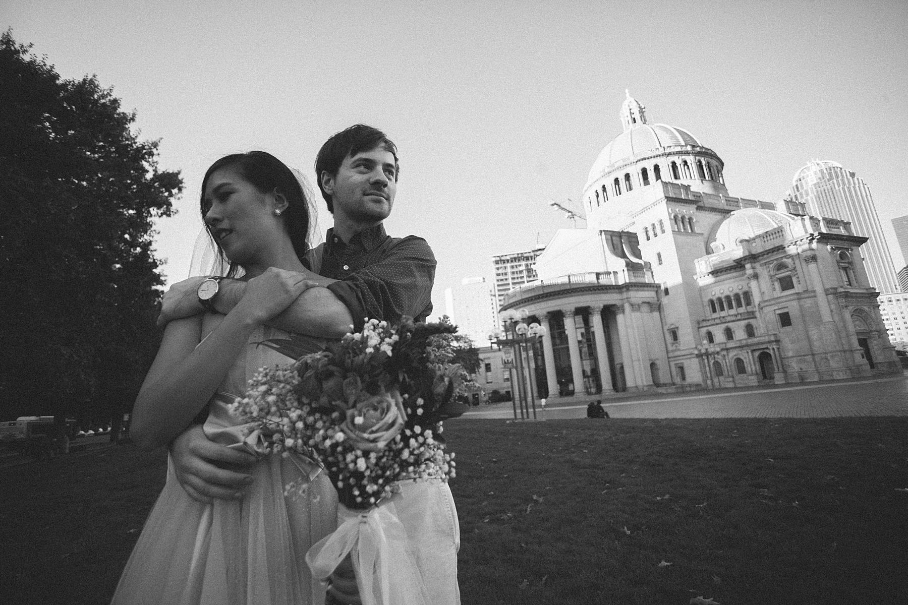 自助婚紗,婚紗攝影,自主婚紗,美國,波士頓,底片風格,海外婚紗,自然