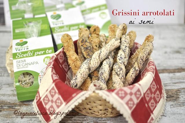 Grissini arrotolati ai semi senza glutine