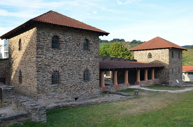Villa Rustica Mehring, a partly reconstructed villa rustica built in the middle of the 2nd century AD and extended in the 3rd & 4th centuries with 34 rooms, Germany