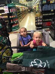 The twins at the store yesterday