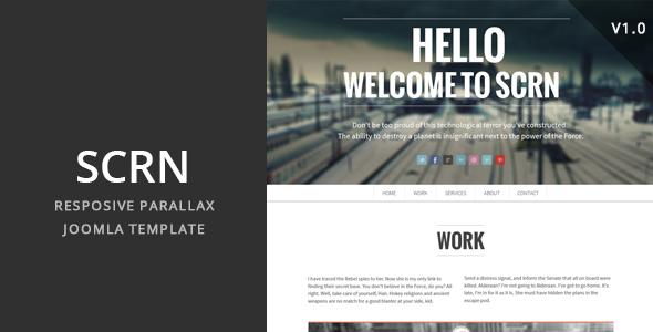 SCRN v2.1 – Responsive Parallax Joomla Template