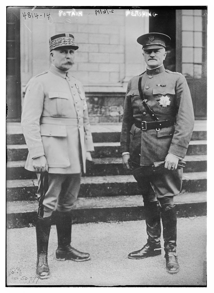 Petain, Pershing (LOC)