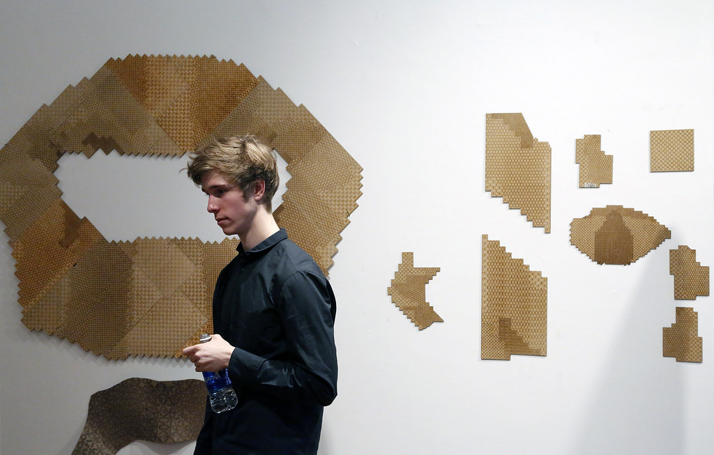 B.Arch. thesis candidate Andrew Moorman presenting his project titled <em>Design and Agency in an Era of Machine Intelligence.</em>