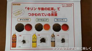 キリン紅茶教室、レジュメ茶葉