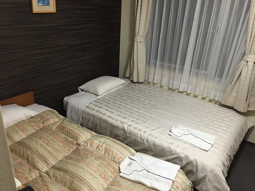 Hotel Shin-Osaka. Our one night here until we head to Hiroshima tomorrow. Very conveniently located next to the Shin Osaka station.