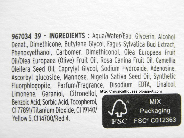 The Body Shop Oils of Life Gel Creme Ingredients