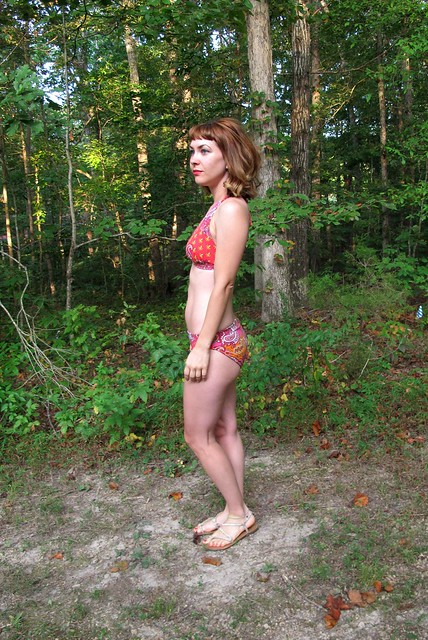 Paisley print Stretch & Sew Bikini - side