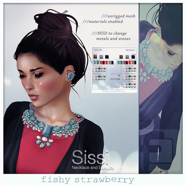 Sissi Necklace and Earcuffs