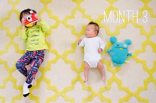 Oliver & Elliot - Month 3