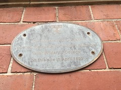 Photo of St Mary's College grey plaque