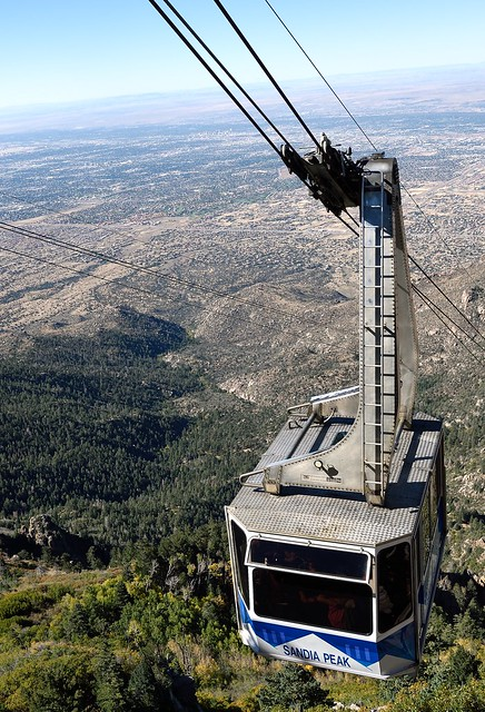 Sandia Peak Tramway above Albuquerque, New Mexico