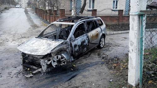 Активісту спалили авто зате, щовиступив проти Хомка?