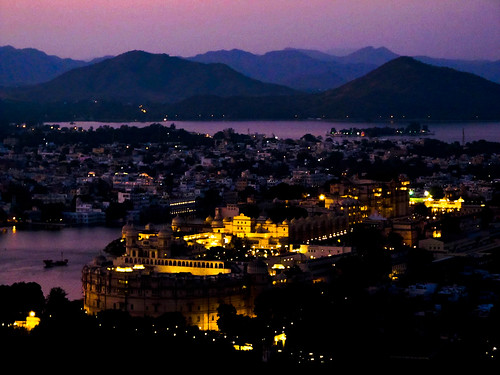 Sunset Point d'Udaipur: le Palais