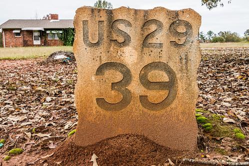 U.S. 29 milestone 39 - 2