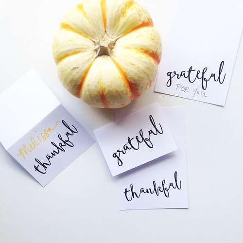 Thankful Grateful Place Cards