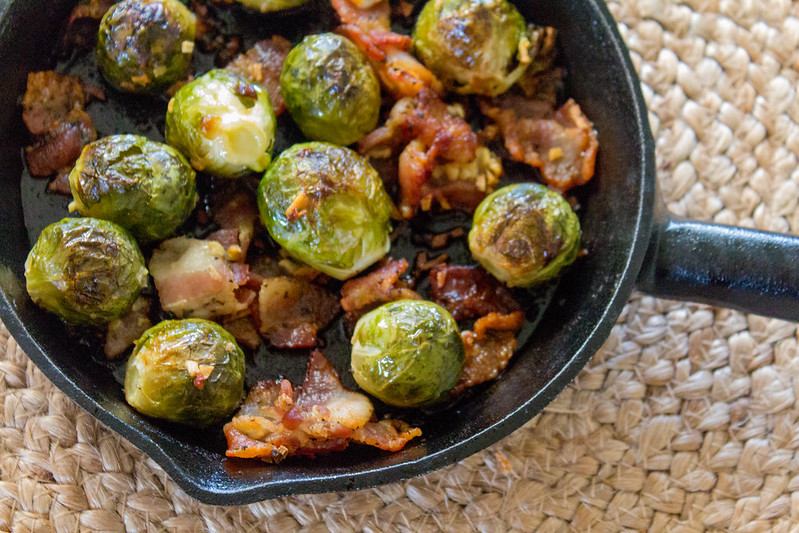 11.22. Oven roasted sprouts with bacon