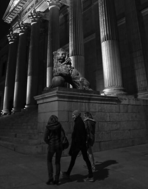 Congreso de los Diputados, Madrid, night.  (2015)