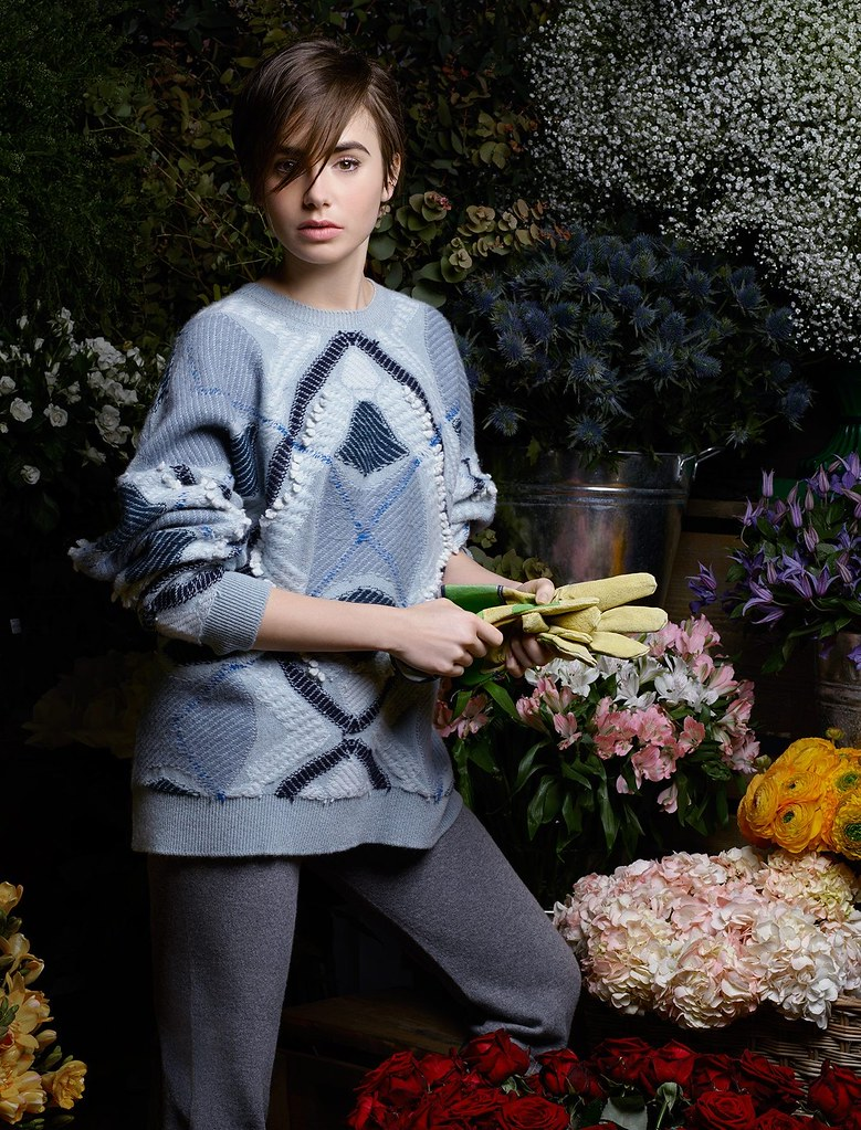 Лили Коллинз — Фотосессия для «Barrie» 2015 – 6