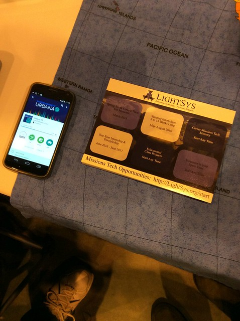 Urbana app on display at LightSys booth during #Urbana15