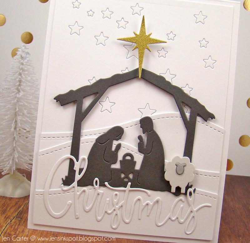 Jen Carter White Nativity Closeup