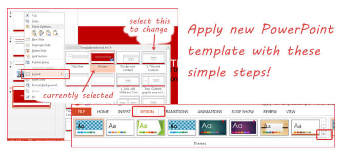 How to Apply New Template to Existing Presentation Slide & What to Do Next (PowerPoint 2013)