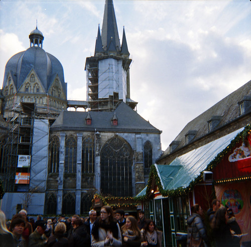 Aachener Dom and the Christmas market